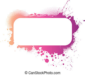 Colorful grunge frame