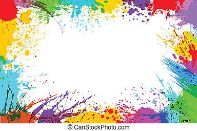 Colorful Grunge - illustration of colorful grunge making...