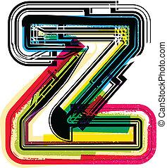 Colorful Grunge LETTER z