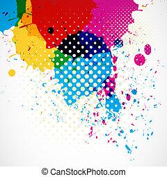 colorful grunge splash background