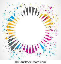 colorful grunge splash design