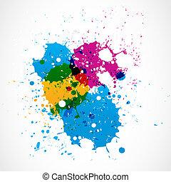 Colorful grunge splash paint