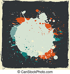 colorful grunge splash paint vector background