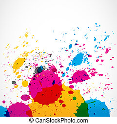 colorful grunge splash paint