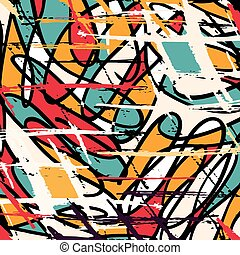 Colorful grunge texture in graffiti style abstract vector image for your design