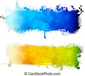 Colorful grunge two banners
