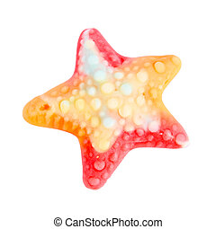 Colorful gummy sweet star