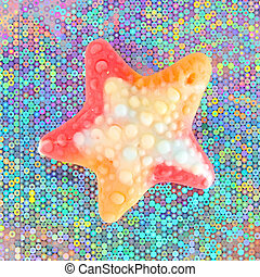 Colorful gummy sweet stars