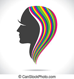 colorful hair of beautiful women