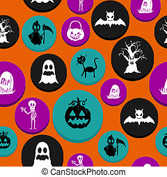 Colorful Halloween elements seamless pattern background. EPS10 Vector file organized in layers for easy editing.