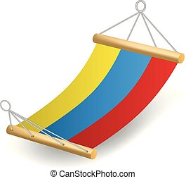 Colorful hammock icon, realistic style