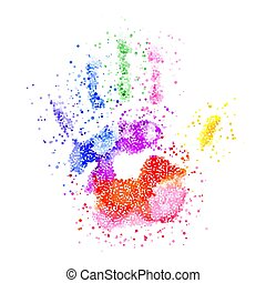 Colorful Handprint