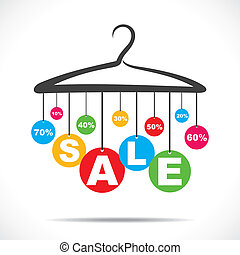 colorful hanging sale text