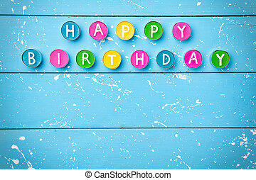 Colorful Happy Birthday background
