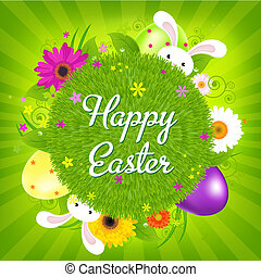 Colorful Happy Easter Card