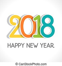 happy new year 2018 poster design