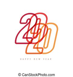 Colorful Happy New Year 2020 Text Design.