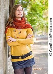 Colorful harmony for autumn fasion.