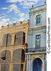 Colorful havana buildings detail