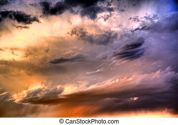 "Colorful HDR Sunset - <span style=""font-family: Arial,..."