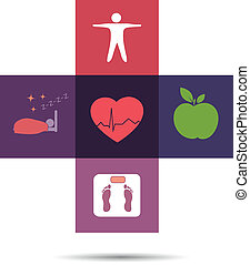 Colorful health care cross symbol