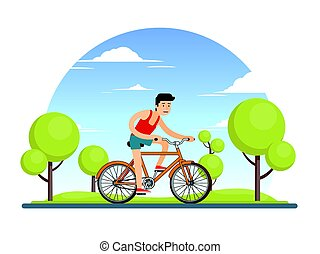 Colorful Healthy Sport Lifestyle Concept