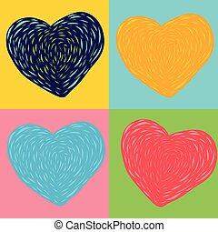 Colorful heart art