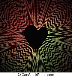 Colorful Heart Curve Abstract Background