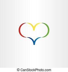 colorful heart logo vector symbol love valentine icon