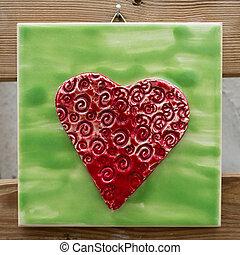 Colorful Heart Shaped Ceramic Souvenir