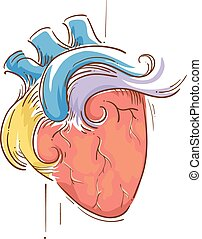Colorful Heart Sketch Design