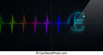 Colorful Heartbeat Monitor with Euro