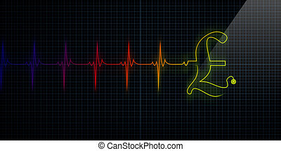 Colorful Heartbeat Monitor with Pound