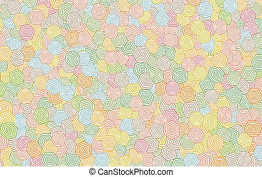 Colorful hexagonal pattern background