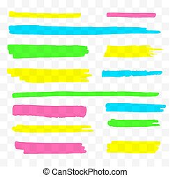 Vector Colorful Highlighters