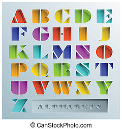Colorful Hole Alphabets Font Style