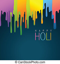 colorful holi background - colorful holi festival vector...