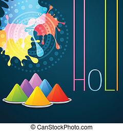 colorful holi festival vector background