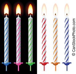 Colorful holiday candles