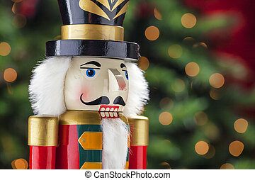 Colorful holiday nutcracker