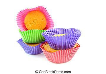 Colorful home made cupcakes