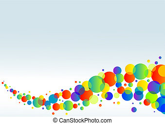 Colorful horizontal background - Abstract colorful...