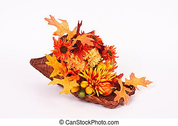 Colorful Horn Of Plenty - Colorful Thanksgiving Horn Of...