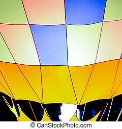 Colorful hot air balloon lines and curves