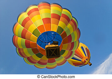 hot air balloons from below - colorful hot air balloons from...