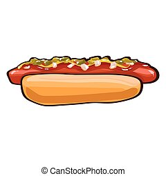 Colorful Hot Dog Template