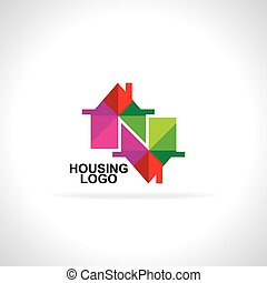 colorful house icon vector