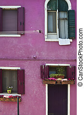 Colorful houses in Burano Italy