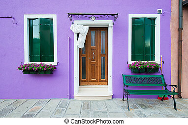 Colorful houses of Burano, Venice, Italy