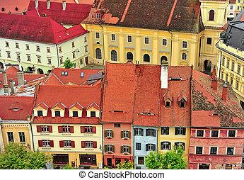Colorful houses of Sibiu city centre